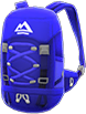 Extra-Large Backpack Item with Blue Variation in Animal Crossing: New Horizons