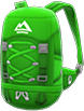 Extra-Large Backpack Item with Green Variation in Animal Crossing: New Horizons