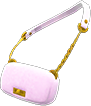 Faux-Fur Bag Item with Pink Variation in Animal Crossing: New Horizons