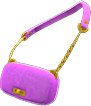 Faux-Fur Bag Item with Purple Variation in Animal Crossing: New Horizons