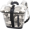 Foldover-Top Backpack Item with Gray Variation in Animal Crossing: New Horizons