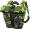 Foldover-Top Backpack Item with Green Variation in Animal Crossing: New Horizons