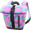 Foldover-Top Backpack Item with Pink Variation in Animal Crossing: New Horizons