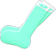 Frilly Knee-High Socks Item with Mint Variation in Animal Crossing: New Horizons