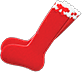 Frilly Knee-High Socks Item with Red Variation in Animal Crossing: New Horizons
