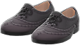 Ghillie Brogues Item with Black Variation in Animal Crossing: New Horizons