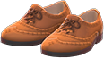 Ghillie Brogues Item with Brown Variation in Animal Crossing: New Horizons