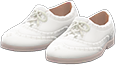 Ghillie Brogues Item with White Variation in Animal Crossing: New Horizons