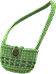 Hand-Knit Pouch Item with Green Variation in Animal Crossing: New Horizons