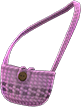 Hand-Knit Pouch Item with Purple Variation in Animal Crossing: New Horizons