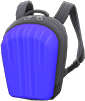 Hard-Shell Backpack Item with Blue Variation in Animal Crossing: New Horizons
