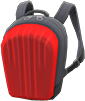 Hard-Shell Backpack Item with Red Variation in Animal Crossing: New Horizons