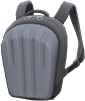 Hard-Shell Backpack Item with Silver Variation in Animal Crossing: New Horizons
