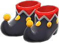Jester's Shoes Item with Black Variation in Animal Crossing: New Horizons