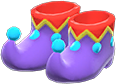Jester's Shoes Item with Purple Variation in Animal Crossing: New Horizons