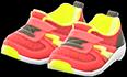 Kiddie Sneakers Item with Red Variation in Animal Crossing: New Horizons