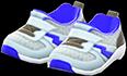 Kiddie Sneakers Item with Silver Variation in Animal Crossing: New Horizons