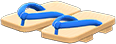 Kimono Sandals Item with Dark Blue Variation in Animal Crossing: New Horizons