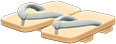 Kimono Sandals Item with Gray Variation in Animal Crossing: New Horizons