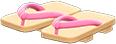 Kimono Sandals Item with Pink Variation in Animal Crossing: New Horizons