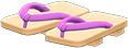 Kimono Sandals Item with Purple Variation in Animal Crossing: New Horizons