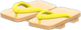 Kimono Sandals Item with Yellow Variation in Animal Crossing: New Horizons