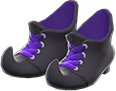Mage's Booties Item with Black Variation in Animal Crossing: New Horizons