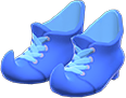 Mage's Booties Item with Blue Variation in Animal Crossing: New Horizons