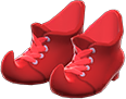 Mage's Booties Item with Red Variation in Animal Crossing: New Horizons