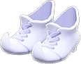 Mage's Booties Item with White Variation in Animal Crossing: New Horizons