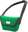 Messenger Bag Item with Green Variation in Animal Crossing: New Horizons