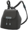 Mini Pleather Bag Item with Black Variation in Animal Crossing: New Horizons