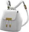 Mini Pleather Bag Item with White Variation in Animal Crossing: New Horizons