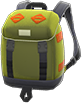 Outdoor Backpack Item with Avocado Variation in Animal Crossing: New Horizons