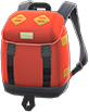 Outdoor Backpack Item with Orange Variation in Animal Crossing: New Horizons