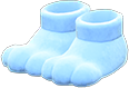 Paw Slippers Item with Blue Variation in Animal Crossing: New Horizons