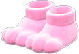 Paw Slippers Item with Pink Variation in Animal Crossing: New Horizons