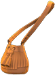 Pleather Fringe Bag Item with Camel Variation in Animal Crossing: New Horizons