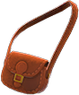 Pleather Shoulder Bag Item with Brown Variation in Animal Crossing: New Horizons