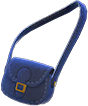 Pleather Shoulder Bag Item with Navy Blue Variation in Animal Crossing: New Horizons