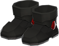 Power Boots Item with Black Variation in Animal Crossing: New Horizons