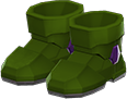 Power Boots Item with Green Variation in Animal Crossing: New Horizons