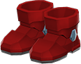 Power Boots Item with Red Variation in Animal Crossing: New Horizons