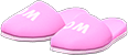 Restroom Slippers Item with Pink Variation in Animal Crossing: New Horizons