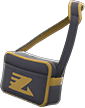 Retro Sports Bag Item with Black Variation in Animal Crossing: New Horizons