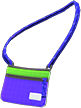 Sacoche Bag Item with Blue Variation in Animal Crossing: New Horizons