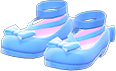 Shiny Bow Platform Shoes Item with Light Blue Variation in Animal Crossing: New Horizons