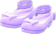 Shiny Bow Platform Shoes Item with Light Purple Variation in Animal Crossing: New Horizons