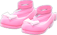 Shiny Bow Platform Shoes Item with Pink Variation in Animal Crossing: New Horizons