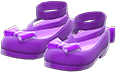 Shiny Bow Platform Shoes Item with Purple Variation in Animal Crossing: New Horizons